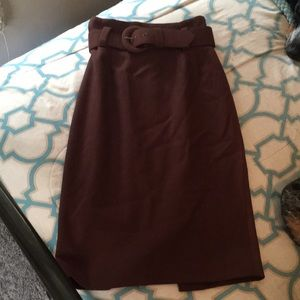 High wasted pencil skirt